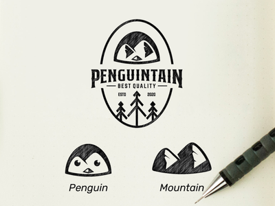 mountain penguin mountain penguin vector awesome inspiration graphic brand designer logo illustration branding design