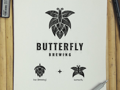 butterfly brewing brewing butterfly creative artwork illustration vector company awesome inspiration branding design graphic brand logo