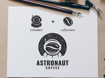 astronaut coffee space coffee astronaut creative icon branding awesome inspiration illustration vector graphic brand design logo