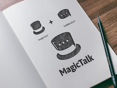 magic talk logo combination talk magic creative symbol artwork branding typography company awesome illustration vector inspiration graphic design brand logo