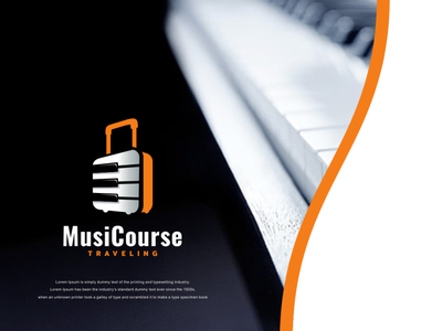 music course traveling course music creative icon vector awesome branding illustration inspiration graphic brand design logo