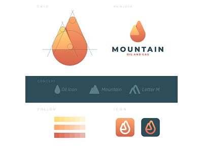 mountain oil logocreation concept creative color clean graphicdesign drop oil mountain icon vector awesome inspiration graphic designer brand branding logo illustration design