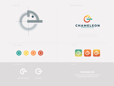 chamelion power paint dualmeaning combination logo icon design icon branding design brand design power chameleon paint painting vector awesome inspiration graphic designer brand branding logo illustration design
