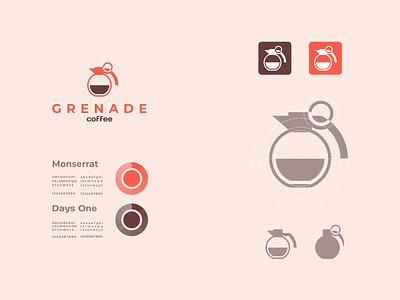 coffe granad creative clean color new minimalist logo modern coffee grenade graphic design design logo vector awesome inspiration graphic designer brand branding logo illustration design