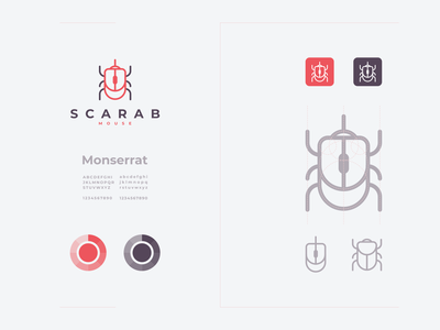 scarab mouse modern graphicdesign mouse scarab clean concept logotype logodesign identity icon vector awesome inspiration designer graphic brand branding logo illustration design