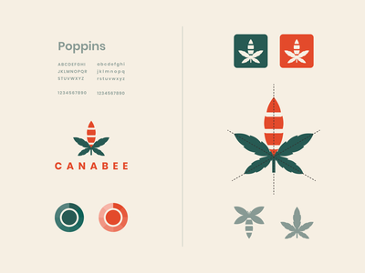 canabee green graphic design health elegant combination bee cannabis concept modern dualmeaning vector awesome inspiration designer graphic brand branding logo illustration design