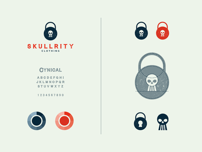 skullrity fashion modern dualmeaning symbol company combination icon clothing scurity skull vector awesome inspiration designer graphic brand branding logo illustration design