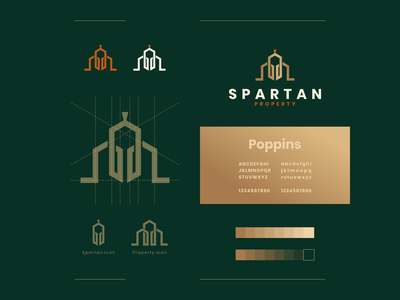 spartan Property dualmeaning clean combination property spartan simple icon design illustrator identity icon vector awesome inspiration designer graphic brand branding logo illustration design