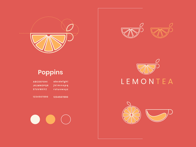 lemon tea tea lemon identity combination modern logo modern clean concept design company icon vector awesome inspiration designer graphic brand branding logo illustration design