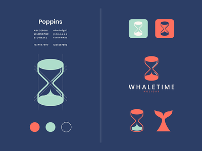 whaletime icon logo design graphic design holiday timer whale modern combination logo art vector company dualmeaning inspiration designer graphic brand branding logo illustration design
