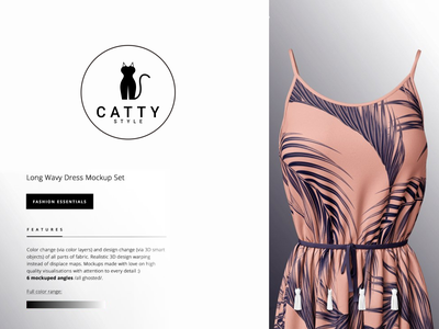 CATTY STYLE dress dualmeaning combination logo modern logo color clean concept catty style cat vector awesome inspiration designer graphic brand branding logo illustration design