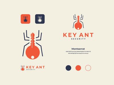 key ant modern clean simple icon dualmeaning combination logo security ant key company vector awesome inspiration designer graphic brand branding logo illustration design
