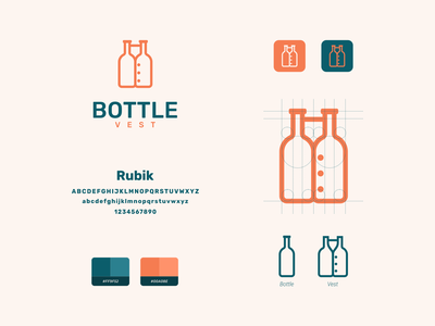 vest bottle concept clean dual meaning combination logo vest bottle modern simple icon vector company inspiration awesome designer graphic branding brand logo illustration design