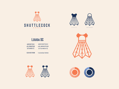 shuttlecock dress clean company color icon simple modern logo dualmeaning combination logo dress shuttlecock vector awesome inspiration designer graphic brand branding logo illustration design