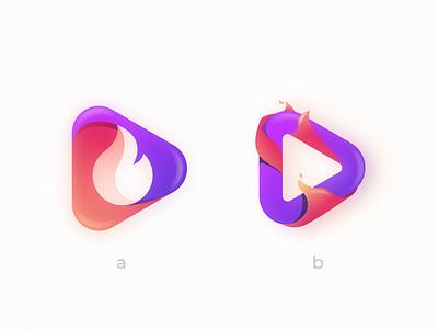 FirePlay ui ux vector inspiration graphic brand branding logo illustration design