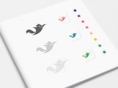 Sugar Glider ui logo ux vector inspiration graphic brand branding illustration design
