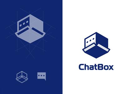 ChatBox box chat ux ui vector inspiration graphic brand branding logo illustration design