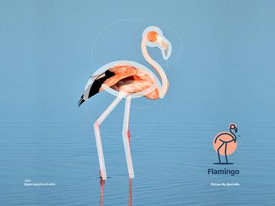 flamingo grid system line logo flamingo ux ui vector inspiration graphic brand branding logo illustration design