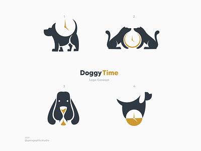 Doggy Time trainer dog graphic design ux ui vector logo inspiration graphic brand branding illustration design