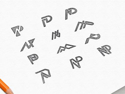 Lettermark NP wordmark lettermark logo ui ux vector inspiration graphic brand branding illustration design