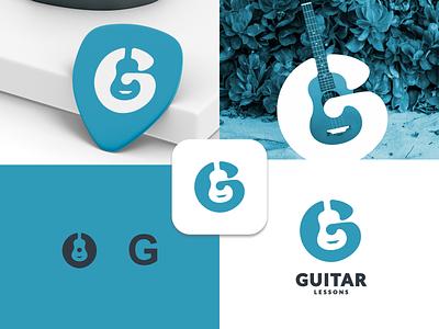 Guitar Logo concept ux ui vector inspiration graphic brand branding logo illustration design