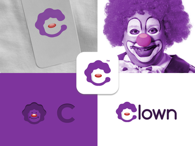 Clown ui ux vector inspiration graphic brand branding logo illustration design