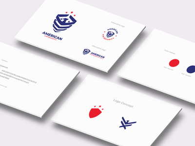 American Air Security ui ux vector inspiration graphic brand branding logo illustration design
