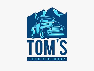Toms classic mountain car icon inspiration designer vector illustration graphic awesome company brand branding design art logo