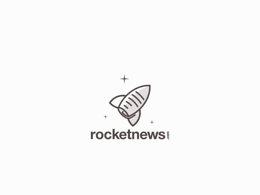 Rocket News papper news rocket logotype hidden meaning typography dualmeaning inspiration vector icon illustration graphic designer company art awesome brand branding design logo