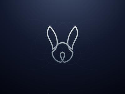 Rabbit Line line rabbit monogram logotype animal typography dualmeaning inspiration vector icon art illustration graphic designer company awesome branding brand design logo