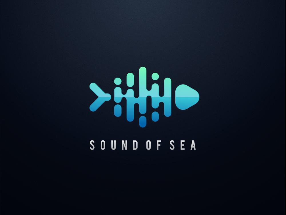 Sound Of Sea music logo fish logo wordmark monogram hidden meaning logotype animal dualmeaning typography inspiration icon vector illustration designer graphic company awesome brand design logo