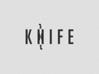 Knife Wordmark Logo