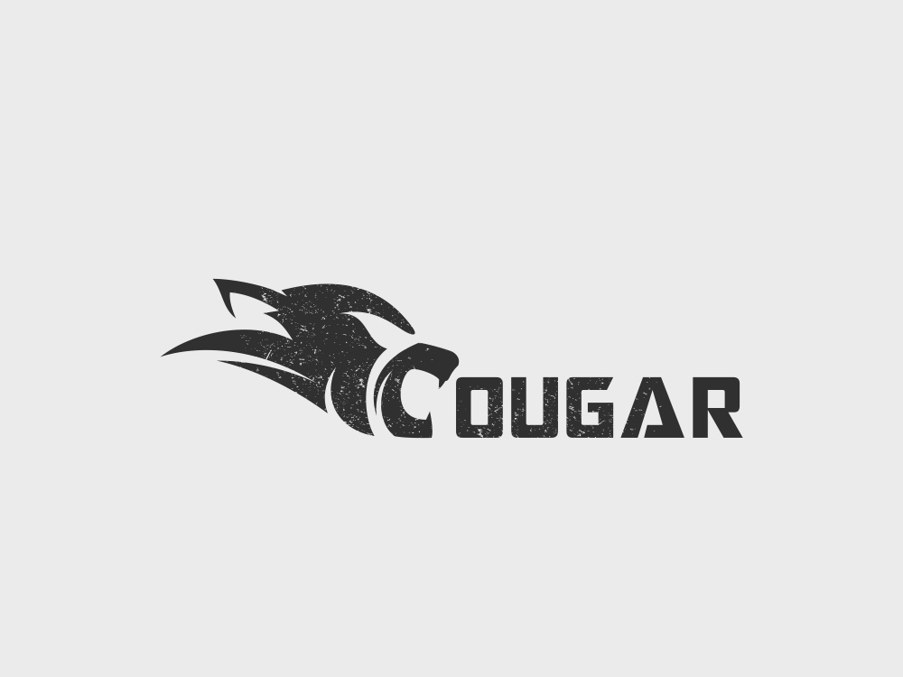 Cougar Design cougar wordmark art inspiration animal dualmeaning vector icon awesome illustration graphic designer company branding brand design logo