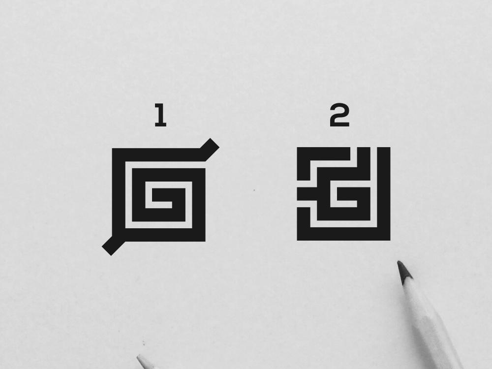 Letter Mark G Logo wordmark monogram logotype art typography inspiration icon awesome vector illustration graphic designer company branding brand design logo