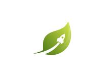 Rocket Leaf Logo Design