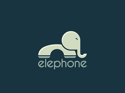 Elephone phone elephant cartoon art monogram hidden meaning dualmeaning inspiration icon vector awesome illustration graphic designer company branding brand design logo