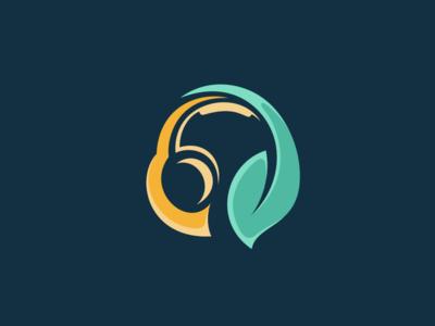 Headset Leaf Logo