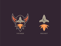 Viking and Rocket Logo