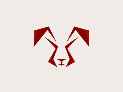 Simple Red Rabbit Logo