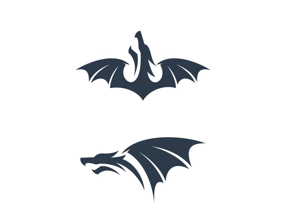 Dragon icon icons dragon mascot monogram animal typography dualmeaning art inspiration icon awesome vector illustration graphic designer company branding brand design logo