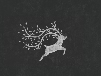 Deer Forest Logo forest logo forest monogram inspiration animal dualmeaning deer logo deer icon awesome vector illustration graphic designer company branding brand design logo