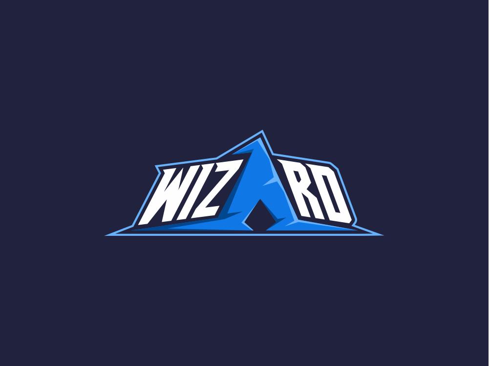 Wizard Logo wizard logo wizard wordmark typography dualmeaning art inspiration icon awesome vector illustration graphic designer company branding brand design logo