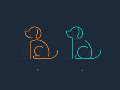 Dog Monoline Logo dog logo dog monoline monogram animal typography dualmeaning art inspiration icon awesome vector company illustration graphic designer branding brand design logo