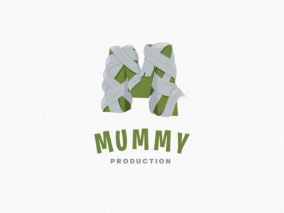 Mummy With Letter M Logo