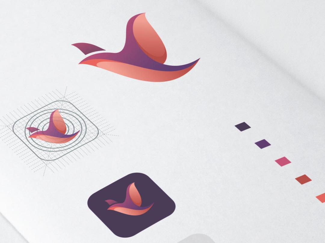 Bird Logo Design application bird logo bird monogram animal art inspiration icon company awesome vector illustration graphic designer branding brand design logo