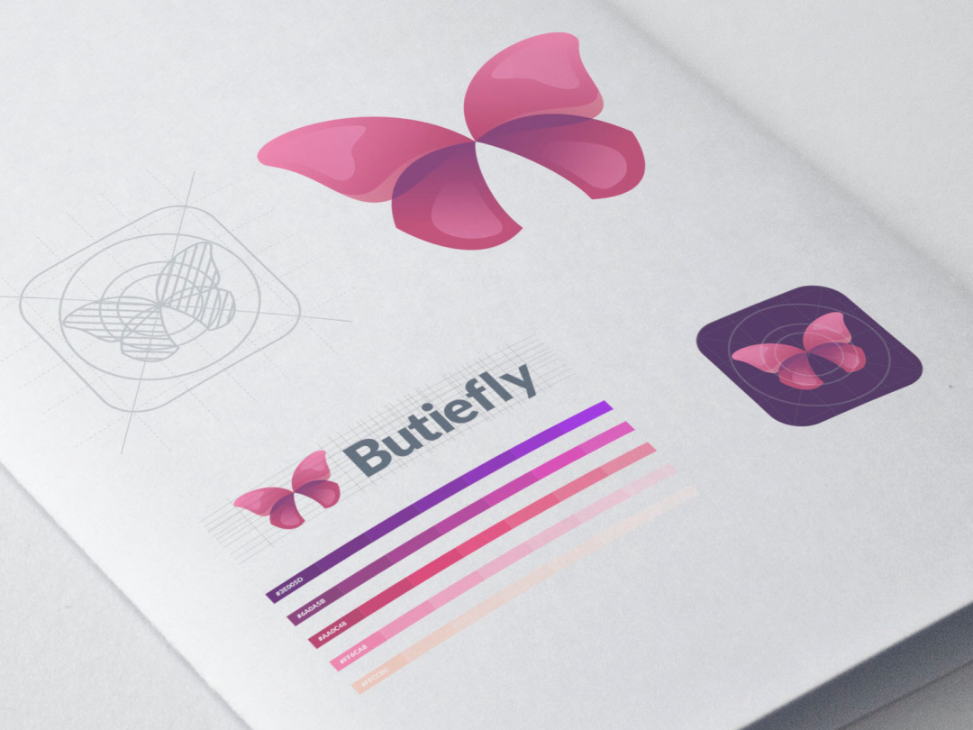 Butiefly Logo modern dualmeaning butterfly logo butterfly animal monogram art inspiration icon awesome company vector illustration graphic designer branding brand design logo