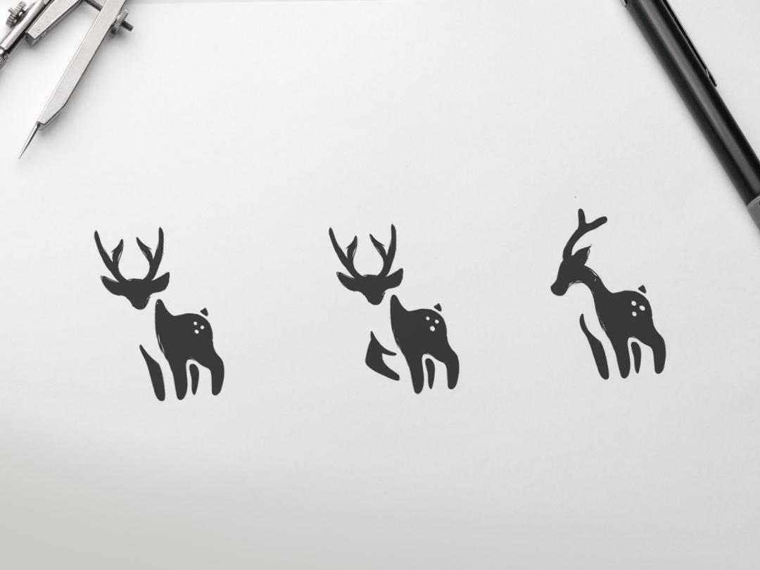 Deer Logo Exploration company deer illustration sketch deer logo deer hidden meaning monogram animal art inspiration icon awesome vector illustration graphic designer branding brand design logo