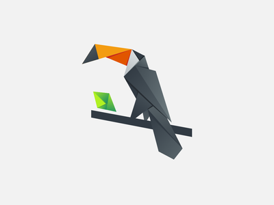 Toucan origami pixel toucan logo toucan bird company monogram art inspiration animal icon awesome vector illustration graphic designer branding brand design logo