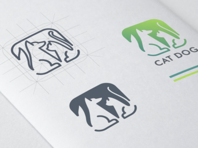 Cat Dog Logo with App icon