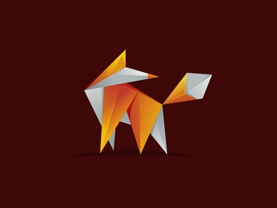 Fox Geometric Logo fox company art inspiration app geometric origami pixel monogram animal awesome icon vector illustration graphic designer branding brand design logo